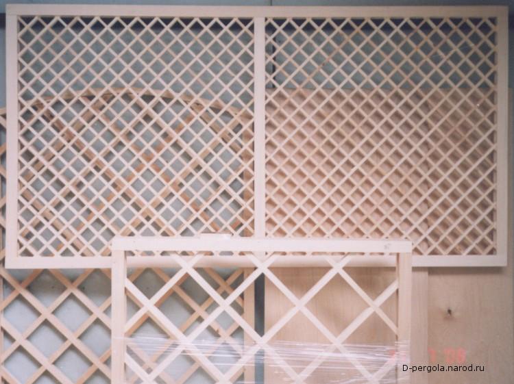 деревянные решетки для перголы